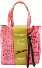 """BaByliss PRO Nano Titanium Full Size 1"""" inch Dual Voltage Iron + Luxe Pink Bag"""