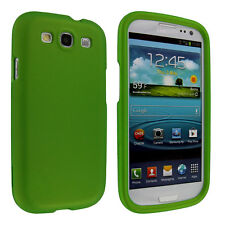 Lime Green Snap-On Hard Case Cover for Samsung Galaxy S3