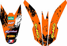 09-15  KTM 65 SX FMF Front & Rear Fender Sticker Kit Decal Graphic Exhaust