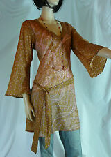 Kaftan Tunic Top Size 12 / 14 Indian Floaty Kurta Kameez Long Tunic Ethnic Boho