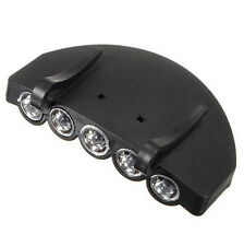 NEW Bright 5 LED Under the Brim Cap/ Hat Light HEAD LIGHT with Batteries Fishing
