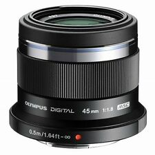 Olympus 45mm f1.8 M.ZUIKO Digital Lens - Black micro four thirds lens 4/3