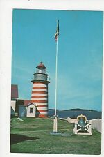 West Quoddy Head Light Maine Old Postcard 351a ^