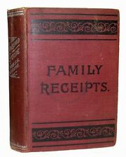 Antique COOKBOOK Household VICTORIAN Home Medical Herbal BEAUTY Cake PASTRY Old