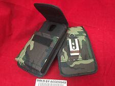 GREEN NYLON CASE HOLSTER BELT CLIP POUCH FOR SAMSUNG GALAXY S5 EXTENDED BATTERY