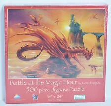 "NEW SEALED SunsOut ""Battle at the Magic Hour"" Fiery Dragons 500 Piece Puzzle"