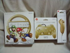 Club Nintendo  Rare Gold Wii Classic Controller PRO, Nunchuck, Handle from Japan