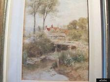 Fine Watercolour By Listed Artist Ebeneezer Wake Cook - Countryside Scene