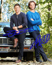 PREPRINT Jared Padalecki Jensen Ackles Autograph Supernatural 8x10 Photo #3