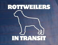 ROTTWEILERS IN TRANSIT Vinyl Car/Van/Window/Bumper Sticker/Decal for Dog Owners