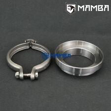 """MAMBA 6cm TD05H TD42 Turbo Dump Pipe 3"""" V-Band Adapter Ring Kit"""