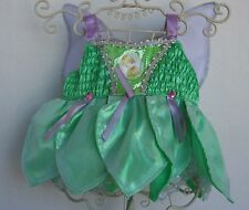 BUILD A BEAR Tinker Bell Outfit wth Hanger and Wings Silver Trim Disney