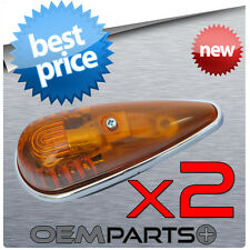 2X NEW AMBER CAB ROOF TOP LIGHTS MARKER RUNNING LAMP TRUCK VAN SEMI CLEARANCE