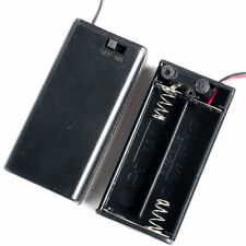 """Battery Holder 2-AA Cells Case Box With 6"""" Cable Leads & Cover & Switch"""
