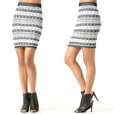 BEBE MULTI JACQUARD BODYCON SKIRT NEW SMALL S XSMALL XS P/S