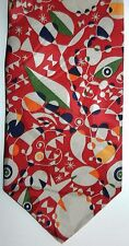 "Joan Miro Necktie New Without Tags ""Woman Surrounded by the Flight"" art silk tie"