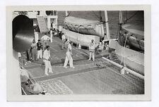PHOTO ANCIENNE SPORT Loisirs Tennis Bateau Navire Vers 1930 Studio French Line