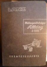 Lanz Motorgeräteträger Alldog 1305 Ersatzteilliste