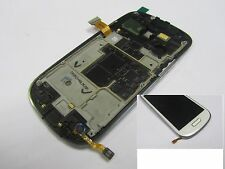 Frame+ LCD Display+Touch Screen For Samsung Galaxy S3 mini i8190 White