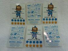 McDonald's Big Mac Tic Tac Toe & Bingo Game Lot of 6 NEW & UNUSED 1978 NOS