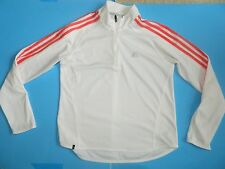 Women's Adidas Clima365 Response Size S Small white Top Long Sleeve Zip Shirt