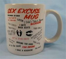 Sex Excuse Coffee Mug Too Tired Kids Will Wake Up Not In The Mood Funny (O)