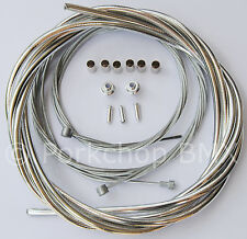 Bicycle 5mm LINED freestyle for ACS rotor brake cable kit old school BMX CHROME