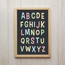 Bild ABC Kunstdruck A4 Alphabet Lernen Familie Kinderzimmer Deko Poster Geschenk