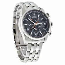New Citizen Men's Radio Controlled World Time Eco-Drive Watch AT9010-52E