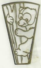 Brass Night Light Filigree BEAR IN TREE With Pattern Stained Glass Supplies