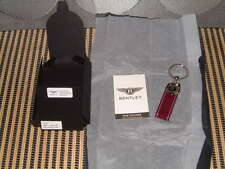 BENTLEY COLLECTION ETTINGER HAND MADE IN THE UK, PURPLE/LT. GREY KEY RING NIBWT