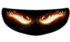 Fire Eyes Helmet Visor Sticker Flame Devil  Motorcycle Shield Decal Tint Eyes +