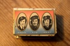 WW2  RAF Army Royal Navy ATS WRENS WAAF Celluloid Matchbox Holder