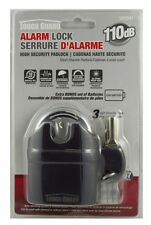 Tough Guard Short Shackle Padlock w/ Siren Alarm High Security Anti Theft Lock
