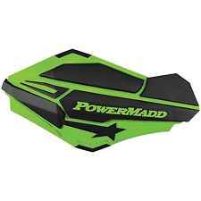 Powermadd Sentinel Handguards & ATV  Mount Kit Green/Black Kawasaki, Arctic Cat