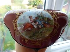 Limoges French porcelain trinket, jewellery box lovers