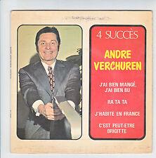 André VERCHUREN Vinyl 45T EP 4 SUCCES - BIEN MANGE BU Musette FESTIVAL 2004 RARE