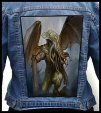 CTHULHU --- Giant Backpatch Back Patch / Necronomicon Lovecraft Arkham
