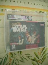 VGA 85 SUPER NINTENDO SNES SUPER STAR WARS FIRST PRINT NEW FACTORY SEALED!
