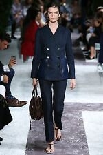 BNWT TODS LADIES INDIGO DENIM DOUBLE BREASTED BLAZER AND PANT SUIT CATWALK LOOK