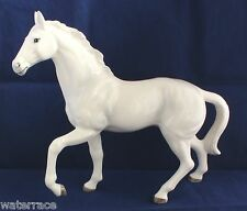 12 X-Large Pawing White Horse Japanese Porcelain Figurine Walk Trot Statue