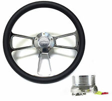 Chevy Pick Up Truck Black & Chrome Steering Wheel Kit fits 1948 - 1959 Truck