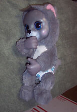GREY CAT THUMB SUCK ANIMAL BABIES DIAPER JAKKS PACIFIC PLUSH TOY BIG EYES 2014