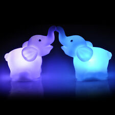 2Pcs Color Changing  Elephant LED Night Light Lamp Wedding Party Decor HOT2