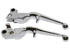 Chrome Hand Levers Brake Clutch Lever For Harley Davidson XL Softail FLSTN FLSTF