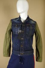 $1760 DSquared Distressed Denim Jacket S74AM0381 sz 50 Large Blue Green Coat D2