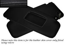 GREY STITCHING FITS AUDI TT MK2 COUPE 2006-2013 2X SUN VISORS LEATHER COVERS