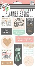 Create 365 The Happy Planner PLANNER BASICS Stickers - ROSE GOLD - 5shts