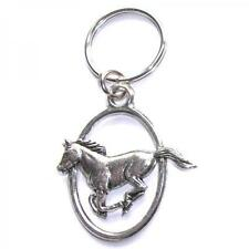 Running Horse PEWTER KEY RING FOB CHAIN BAG CHARM Owner Rider Present GIFT BOX