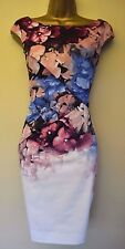 New Karen Millen 10 Stunning Hydrangea Floral Wedding Races Cruise Dress £175